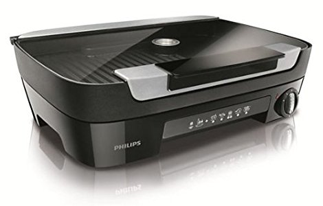 Philips HD6360/20 Gril Avance 1/3 Plancha Diffuseur Feu de Bois 2000 ...